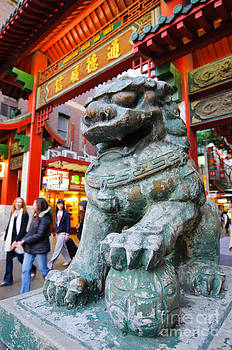 David Hill - Chinese Stone Lion protects the Chinatown Gate