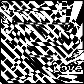 Chinese Symbol For Love Maze  by Yonatan Frimer Maze Artist