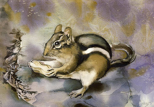 Alfred Ng - chipmunk watercolor