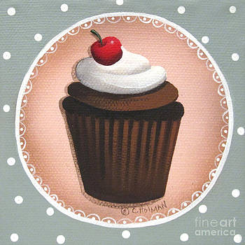 Chocolate Cherry Chip Cupcake by Catherine Holman