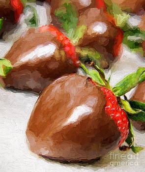 Andee Design - Chocolate Covered Strawberries Painterly 1