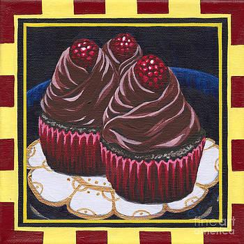 Chocolate Raspberry Cupcakes by Gail Finn