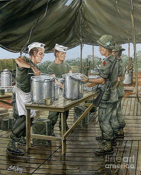 Chow Time On The DMZ by Bob  George