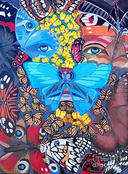 Christ And The Butterflies by Ferdz Manaco