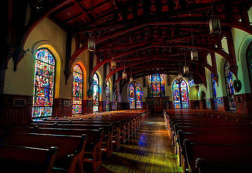 Christ Church Cathedral Houston TX HDR by Preston Broadfoot