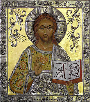 Christ Pantocrator by Mary jane Miller