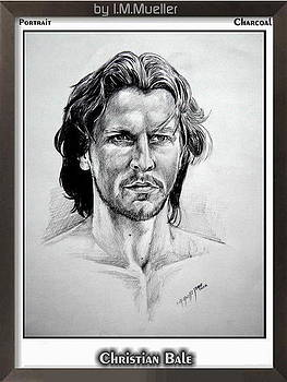 Christian Bale in Charcoal by Iracema Marianne Muller