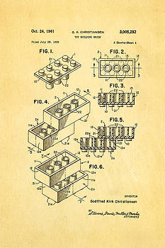 Ian Monk - Christiansen Lego Toy Building Block Patent Art 1961
