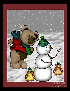 Christmas Bear 1 by Karen Sheltrown