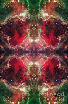Christmas Bells Abstract Space Art by Animated Sentiments