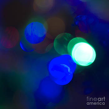 Christmas Bokeh Blues by Michelle Orai