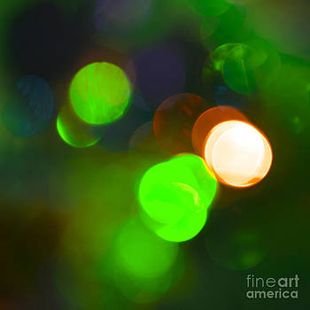 Christmas Bokeh Greens by Michelle Orai