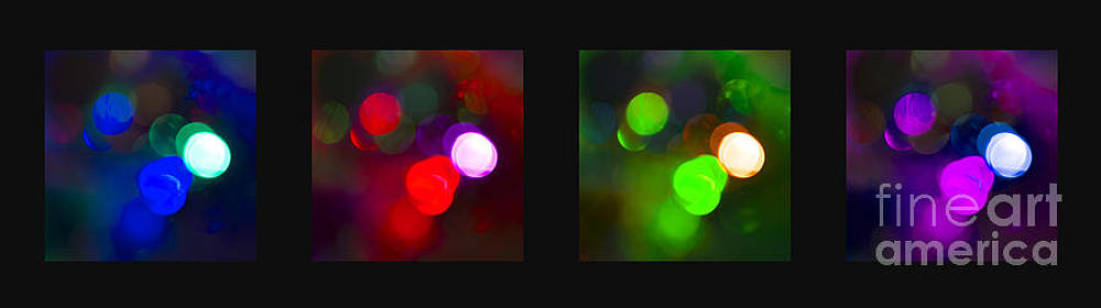 Christmas Bokeh Panel by Michelle Orai