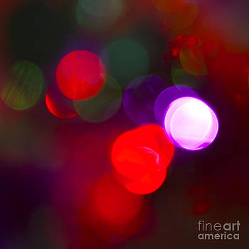 Christmas Bokeh Reds by Michelle Orai