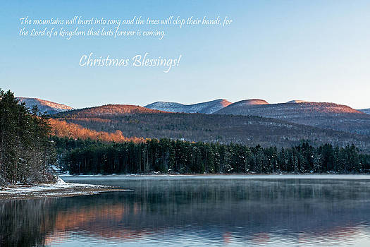 Christmas Card Glorious Catskill Morning by Nancy De Flon