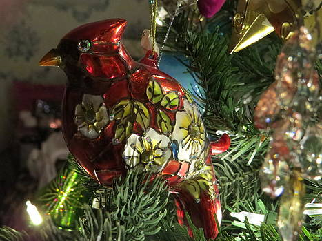 Christmas Cardinal Bird by Elisabeth Ann
