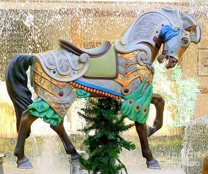 Mary Deal - Christmas Carousel Warrior Horse-1