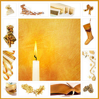Jo Ann Snover - Christmas collage in gold