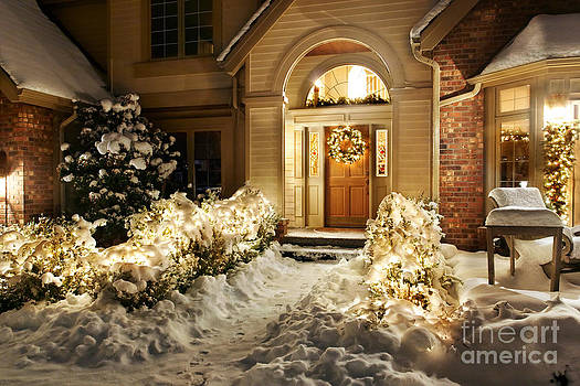 Jo Ann Snover - Christmas decorations in snow