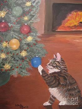 Stella Sherman - Christmas Kitty Cat