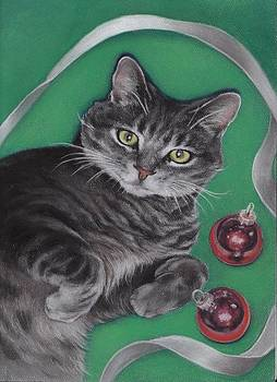 Christmas Kitty by Pamela Humbargar