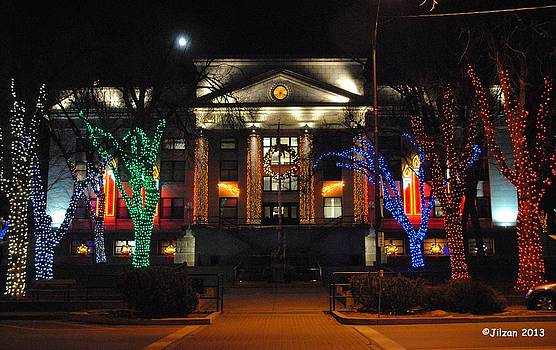 Christmas Lights In Prescott by Jill Baum