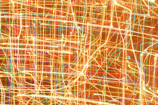 Christmas Lights Pattern by Julia Fine Art And Photography