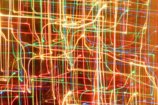 Christmas Lights Patterns by Julia Fine Art And Photography