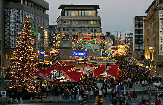 Christmas Market Essen Germany 2006 by David Davies