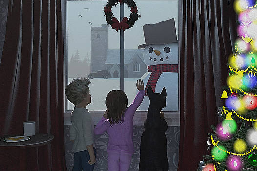 Christmas Morning Greeting by Ken Morris