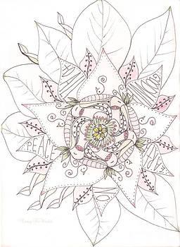 Christmas Peace Poinsettia  by Nancy TeWinkel Lauren