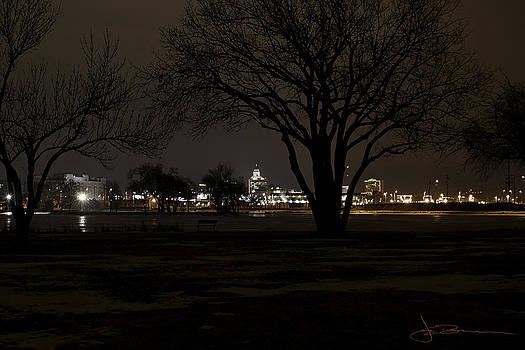 Christmas Skyline by Jim Bunstock