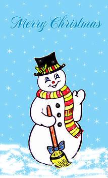 Christmas Snowman by Susan Turner Soulis
