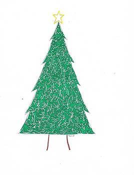 Christmas Spirit Tree by Kali Kardsbykali