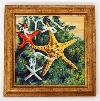 Christmas starfish - oil painting by Ivelin Vlaykov