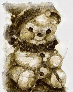 Christmas teddy bear by Yanni Theodorou