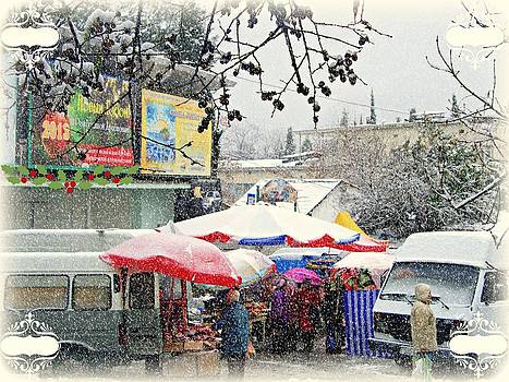 Christmas  Time   Markets Crimea  by Rick Todaro