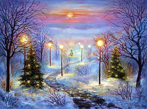 Christmas Trail by Elena Khomoutova