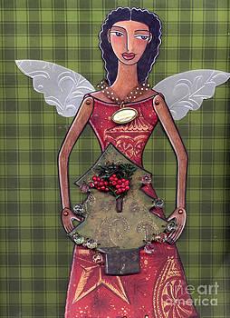 Christmas tree angel by Elaine Jackson