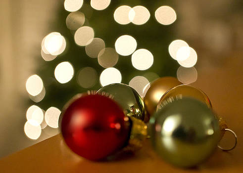 Christmas Tree Bokeh and Ornaments by Mariola Szeliga