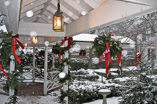 Christmas walkway in the snow by Healing Woman