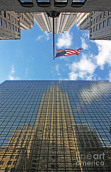 Chrysler Building Reflections Vertical 1 by Nishanth Gopinathan