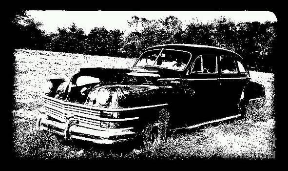 Chrysler Windsor Black and White by Denise Jenks