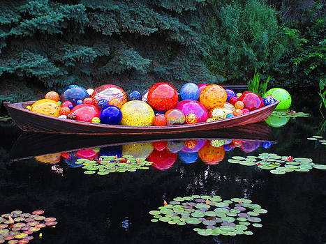Chihuly Balls in Boat by Elaine Haakenson