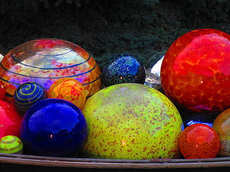 Chihuly Glass Balls  by Elaine Haakenson