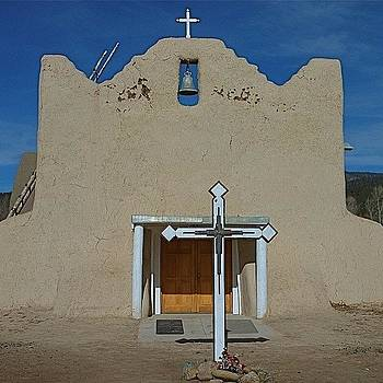Church At Picuris Pueblo ~ Peñasco by Gia Marie Houck