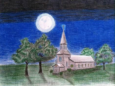 Church by the moon 2 by Tony Clark