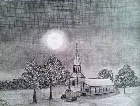 Church by the moon by Tony Clark