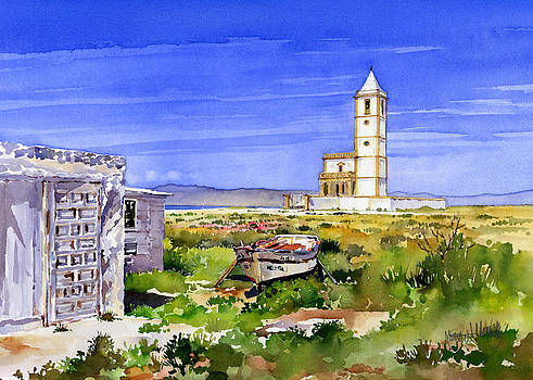 Church by the salt flats by Margaret Merry
