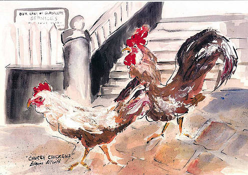 Church Chickens by Elaine Elliott